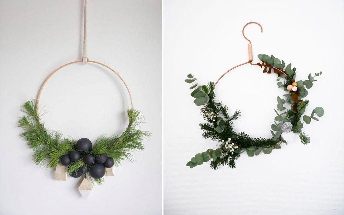 Ghirlande da porta: ispirazioni per un Natale scandi style