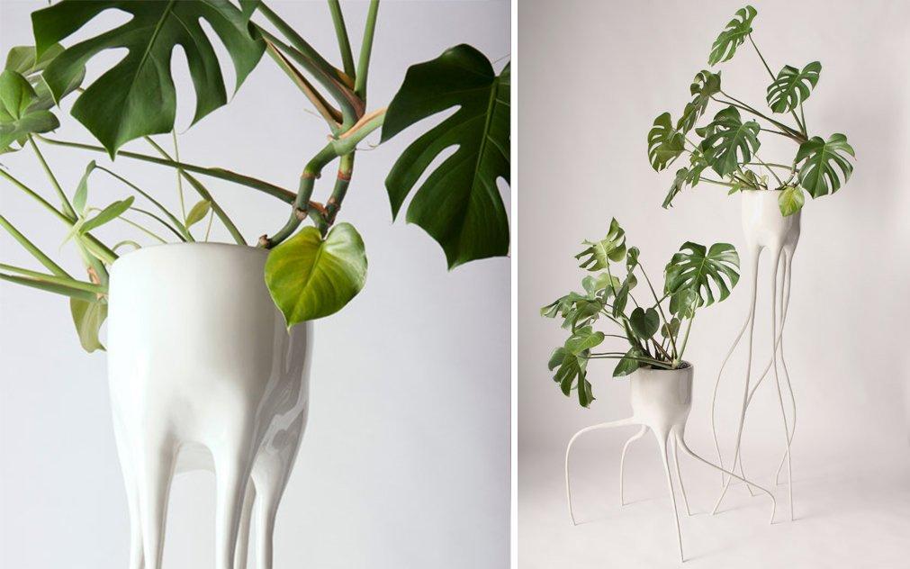Vasi per piante da interni pots in total white x urban for Vasi grandi per interni