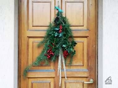 Tutorial per una ghirlanda di Natale facile da fare