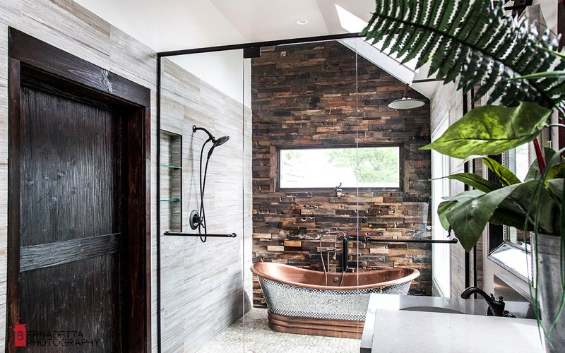 Home tour un bagno rustico e moderno architempore