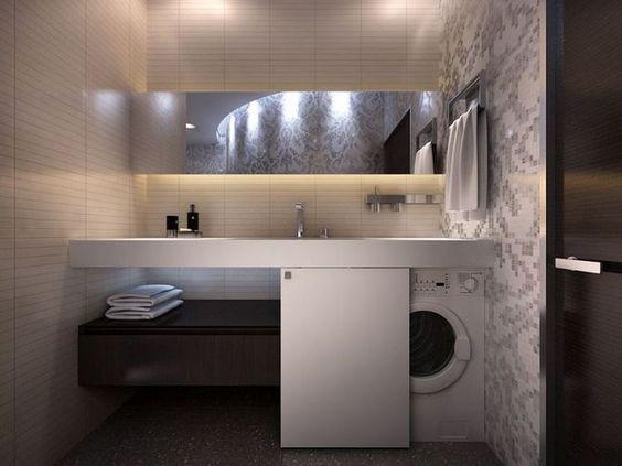 Come nascondere la lavatrice in bagno architempore for Armadi per il bagno
