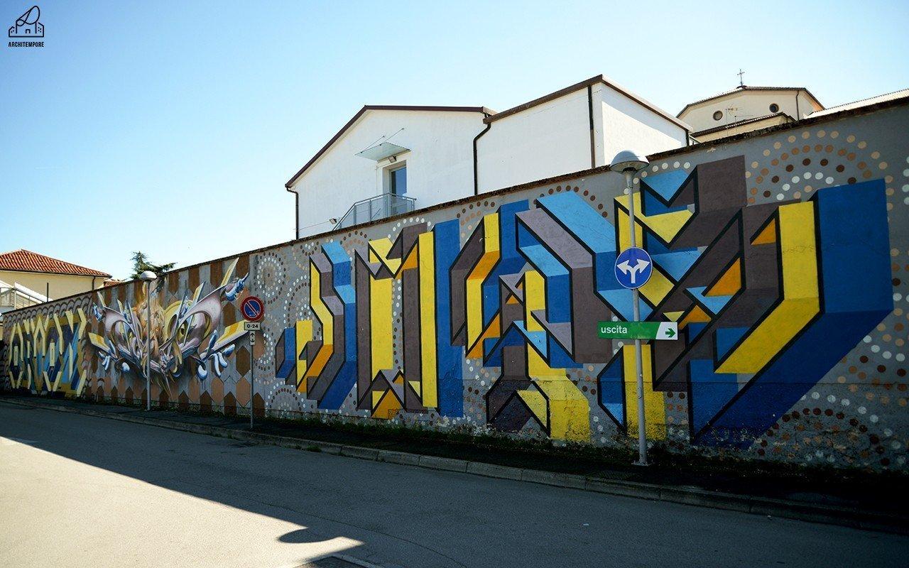 #ChiediamoloA Joys: street art, finestre e geometrie a Padova