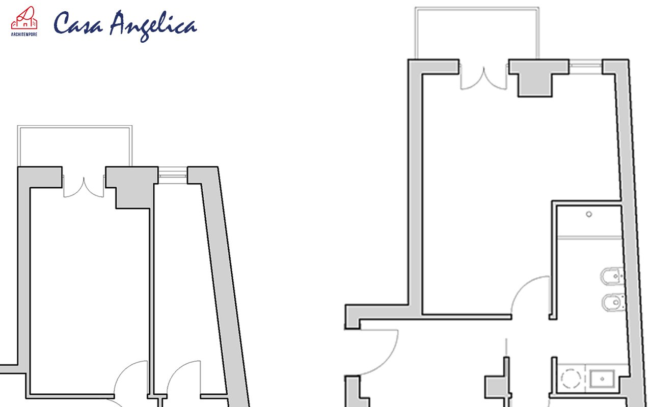 Portfolio trasformare un bagno stretto e lungo per - Trasformare ripostiglio in bagno ...