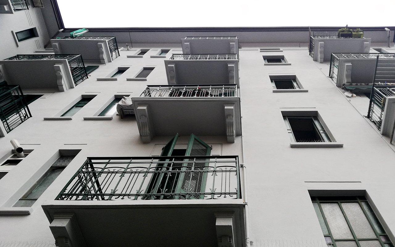Cantiere J18   Rifacimento facciata