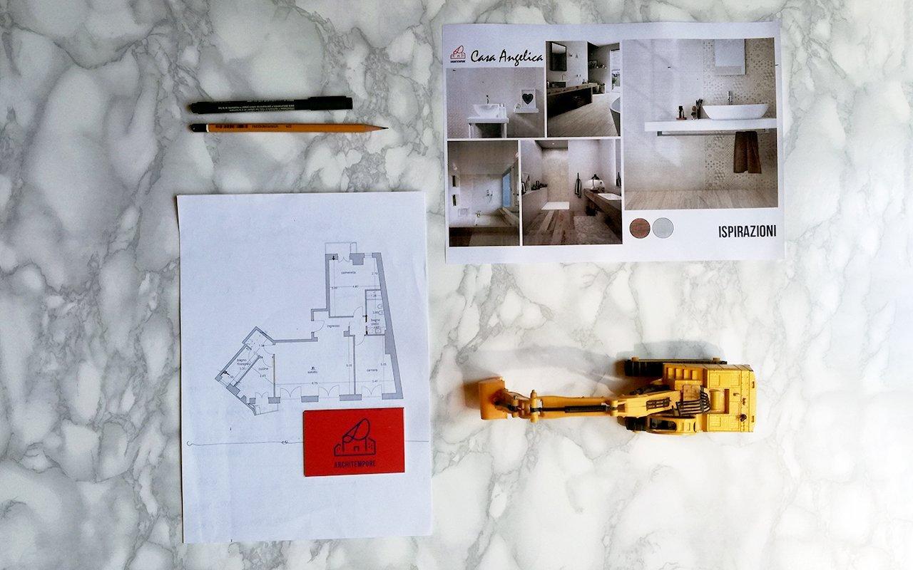 Portfolio | Trasformare un bagno stretto e lungo per guadagnare spazio