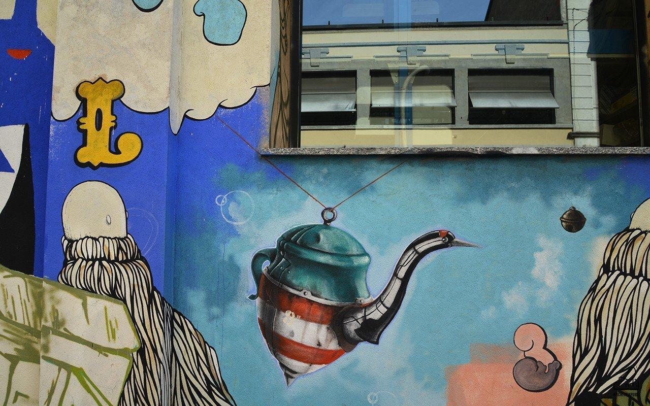 Street art in zona Isola a Milano