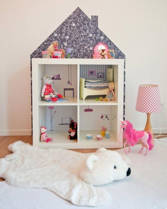 Idee originali per utilizzare lo scaffale kallax ikea - Ikea casa bambole ...