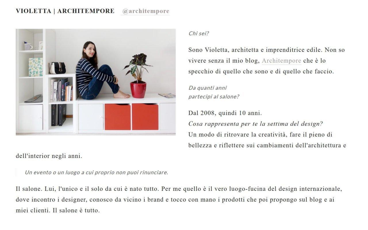 chi sono architempore_violettabreda_intervista_bloggerdesign_milanodesignweek_