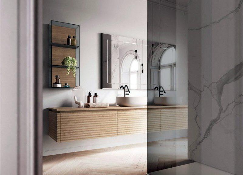 bagno piccolo sembra più grande se ben illuminato