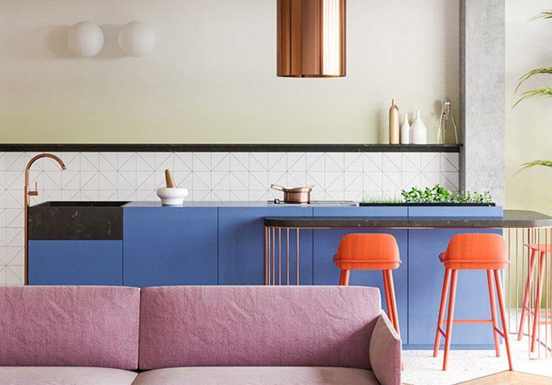 Cucine colorate e di design, spunti e idee