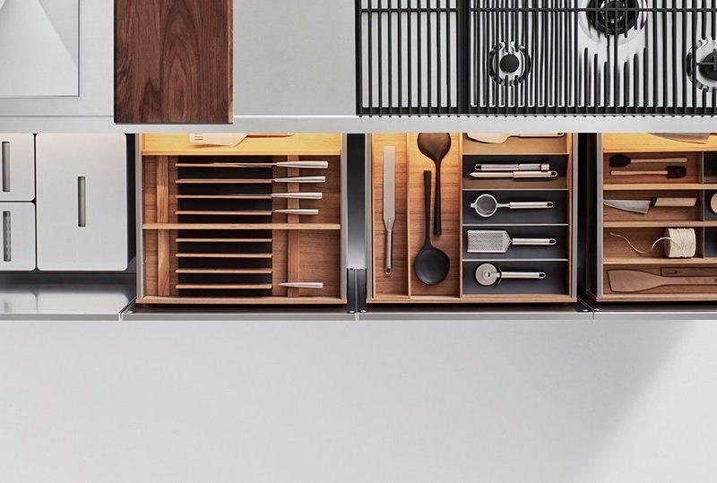I cassetti della cucina, organizzati e in ordine