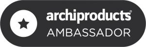 Badge Archiproducts Ambassador per Architempore dell'architetto Violetta Breda