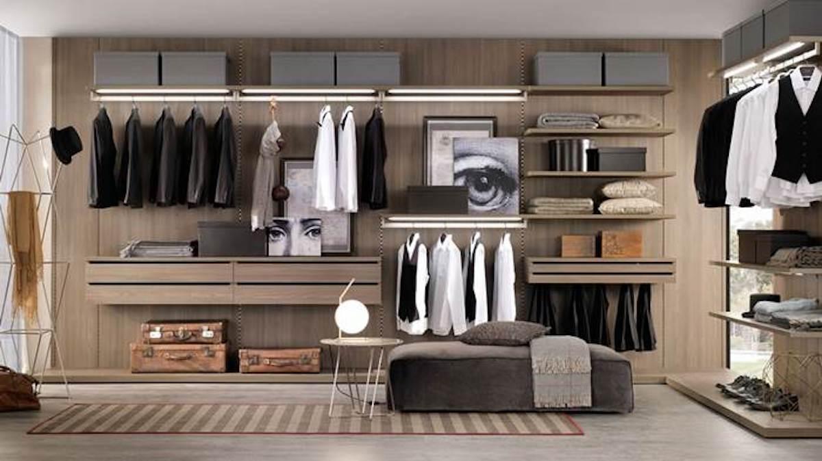 Come organizzare gli spazi di una cabina armadio ...