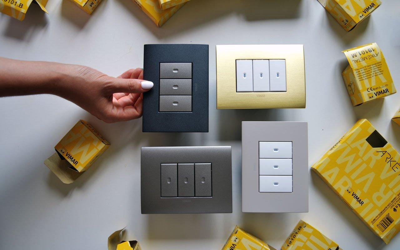 Arké fit: la nuova placca elettrica di design di Vimar