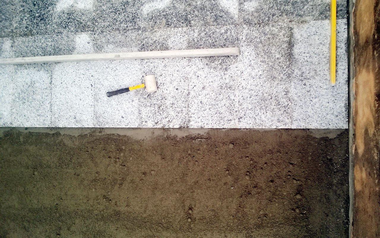 Cantiere SF46 | Pavimentazione esterna e impermeabilizzazione