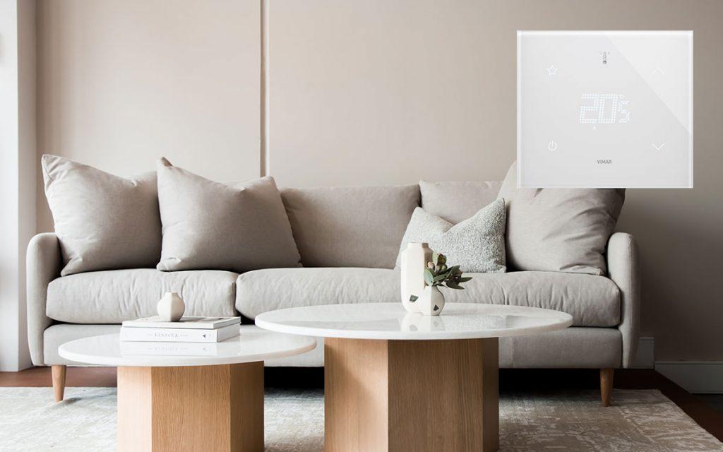 Il nuovo termostato domotico Eikon Tactil di Vimar per una casa intelligente e connessa